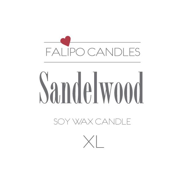 Sandelwood XL etiket