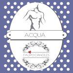 Geurkaars van soja was Acqua label