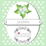 Geurkaars van soja was Jasmin label