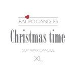 Christmas time XL etiket